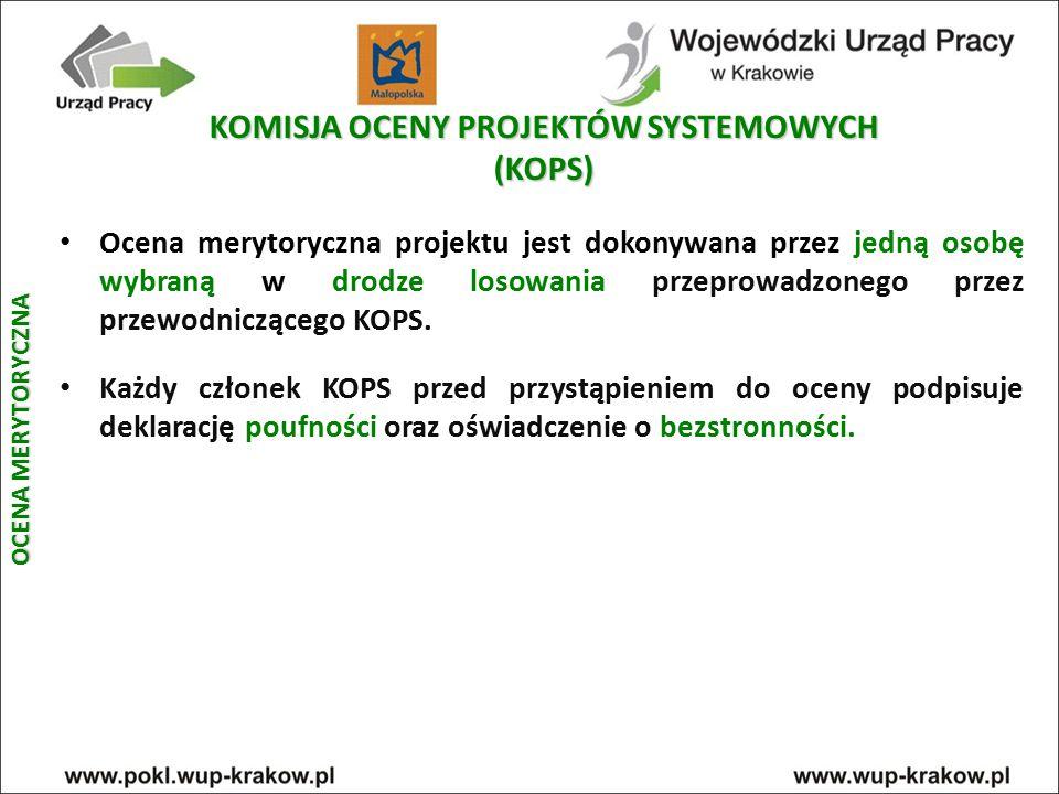 KOMISJA OCENY PROJEKTÓW SYSTEMOWYCH (KOPS)