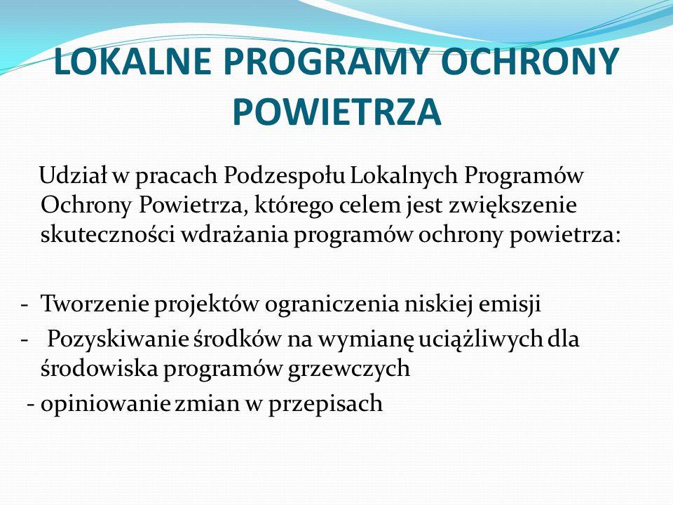 LOKALNE PROGRAMY OCHRONY POWIETRZA