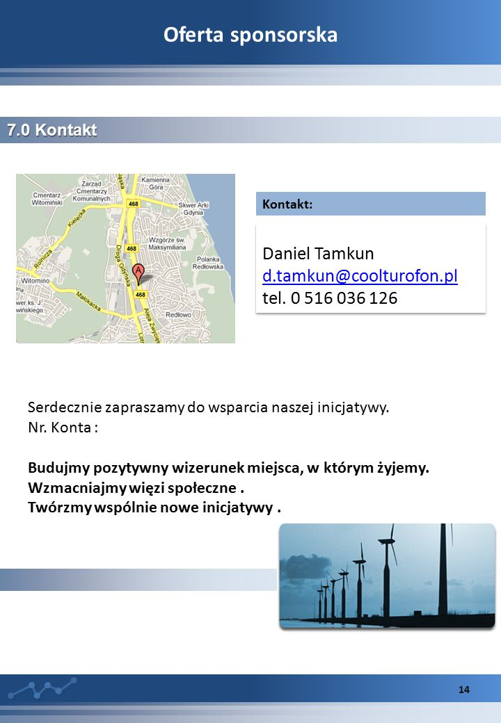 Oferta sponsorska d.tamkun@coolturofon.pl tel. 0 516 036 126