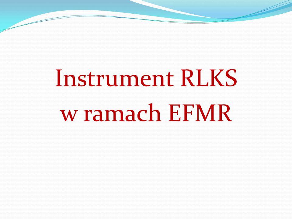 Instrument RLKS w ramach EFMR