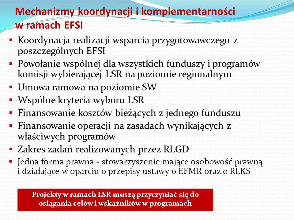 Mechanizmy koordynacji i komplementarności w ramach EFSI