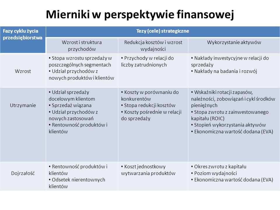 Mierniki w perspektywie finansowej