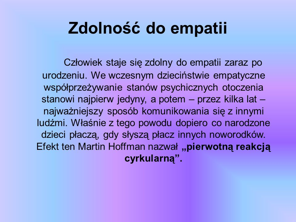 Zdolność do empatii