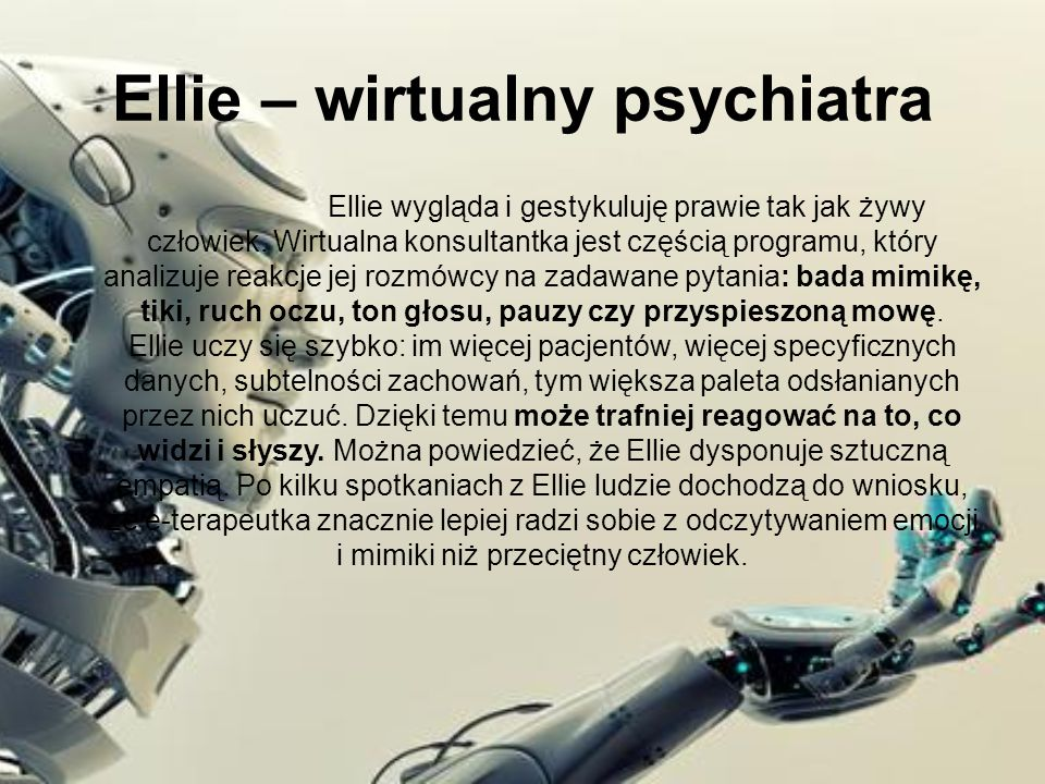 Ellie – wirtualny psychiatra