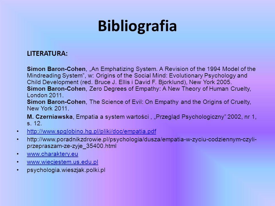 Bibliografia LITERATURA: