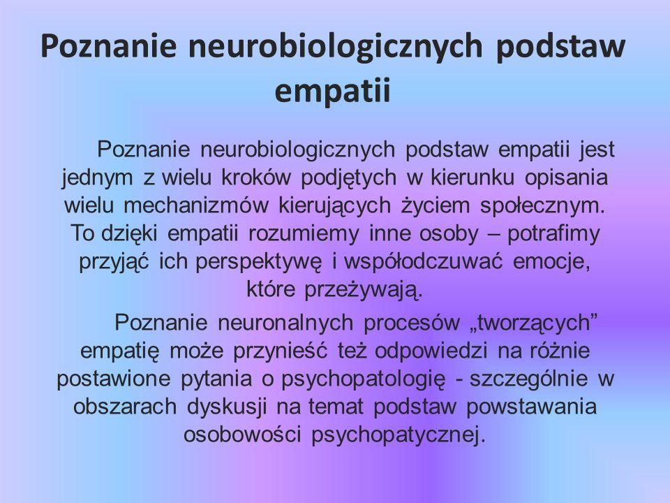 Poznanie neurobiologicznych podstaw empatii