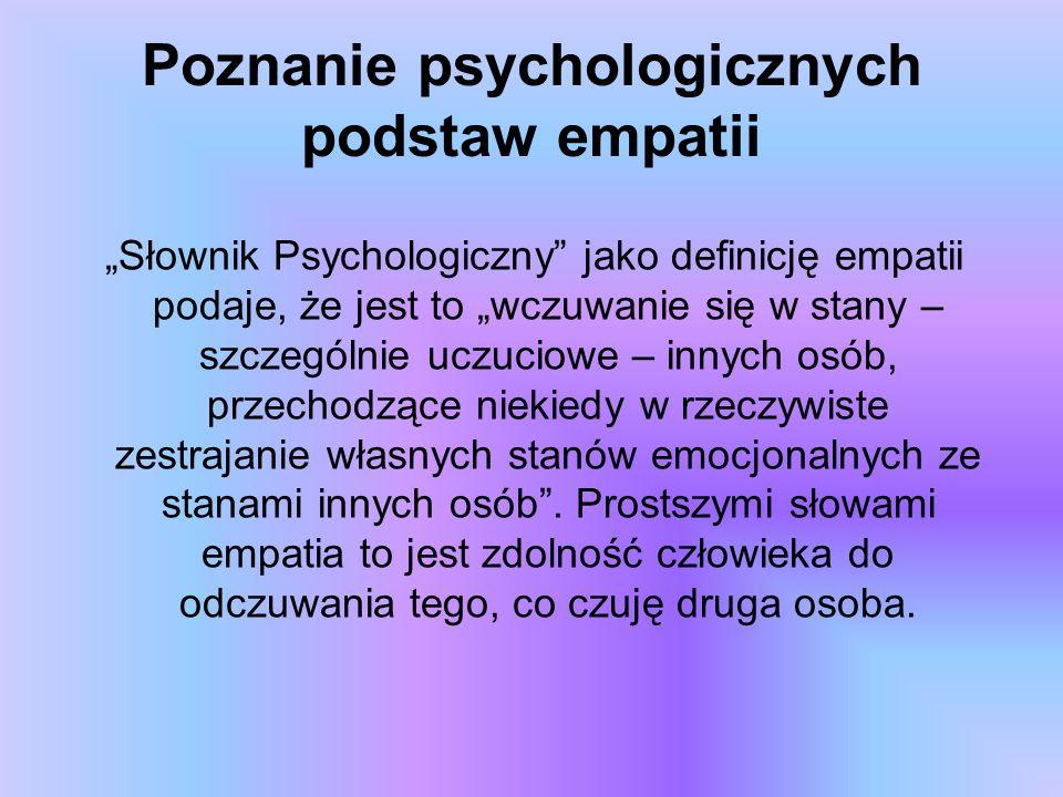 Poznanie psychologicznych podstaw empatii