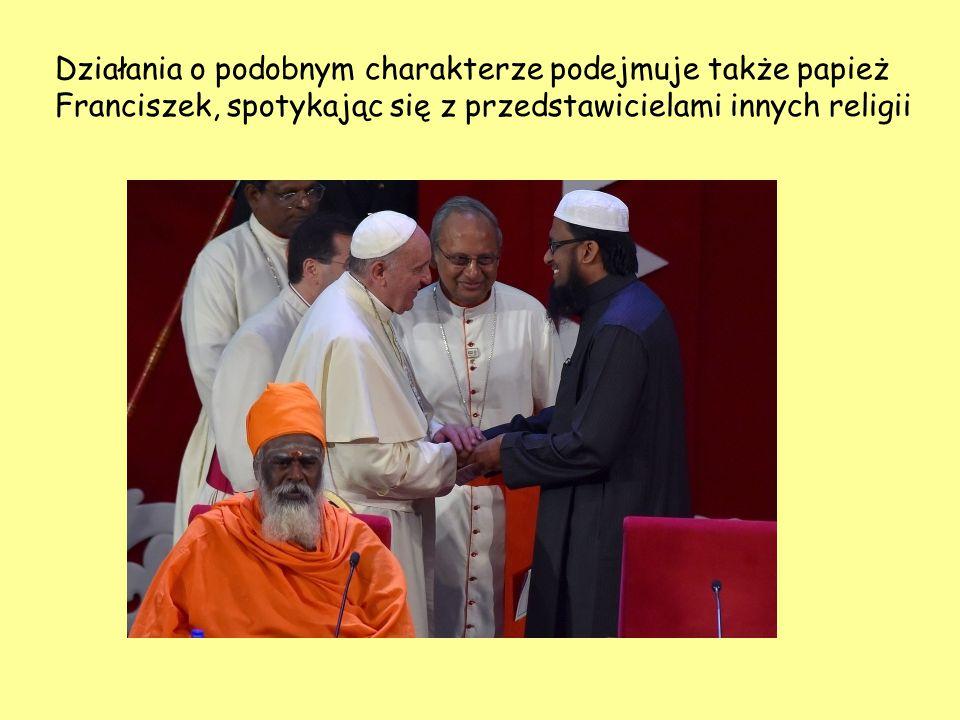 Działania o podobnym charakterze podejmuje także papież