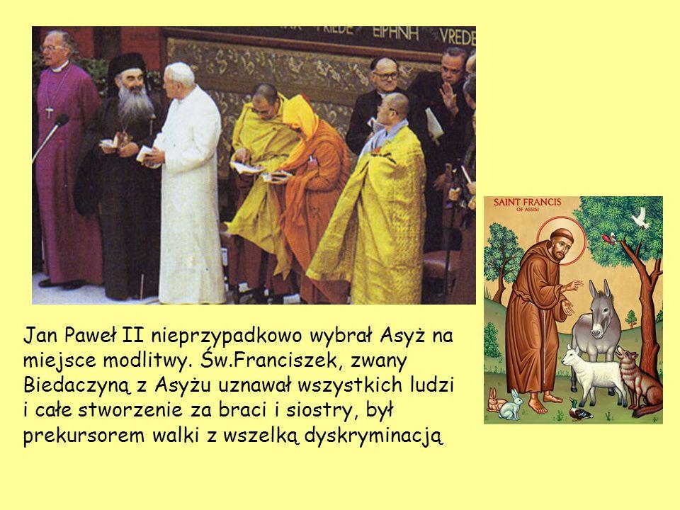 Jan Paweł II nieprzypadkowo wybrał Asyż na miejsce modlitwy. Św