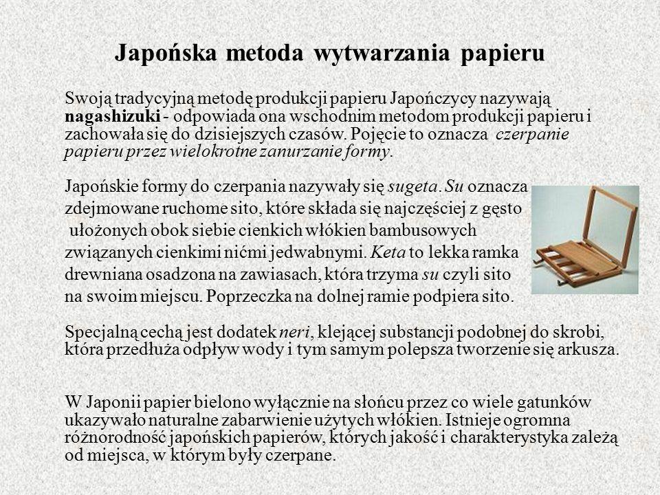 Japońska metoda wytwarzania papieru