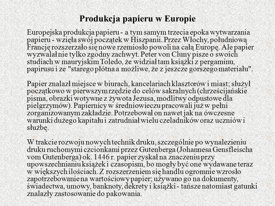 Produkcja papieru w Europie