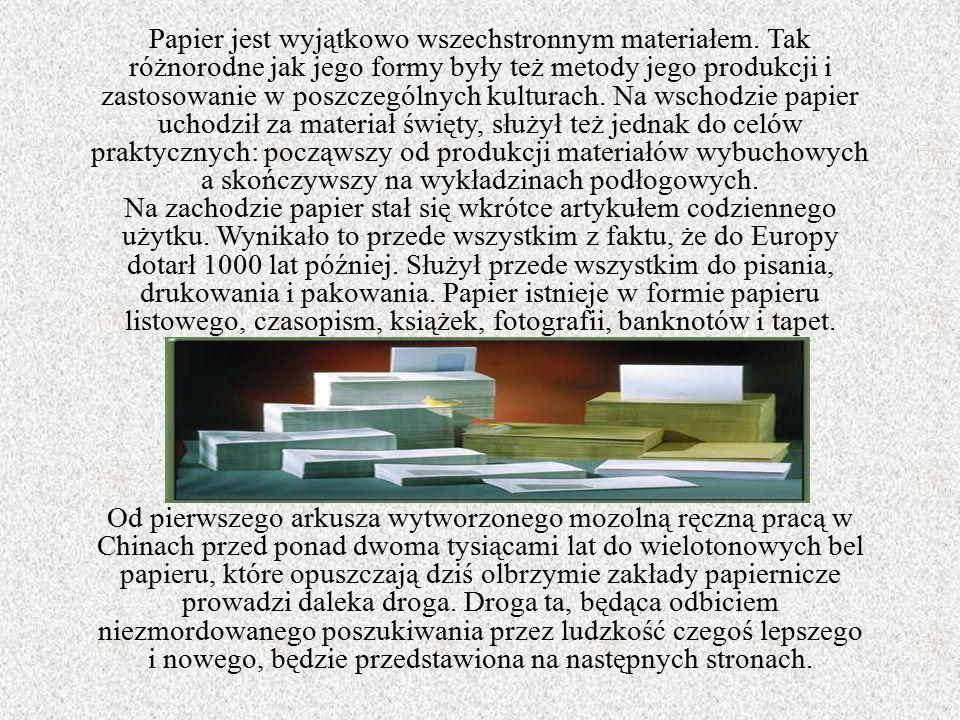Papier jest wyjątkowo wszechstronnym materiałem