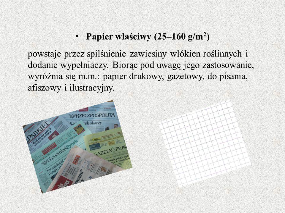 Papier właściwy (25–160 g/m2)