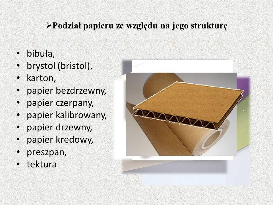Podział papieru ze względu na jego strukturę