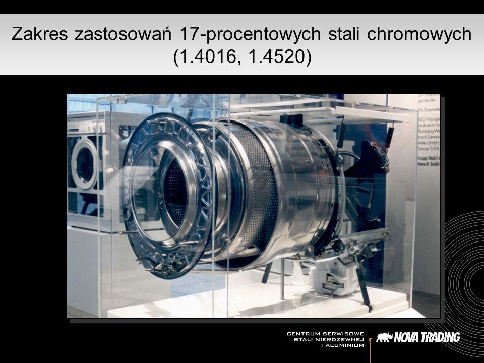 Zakres zastosowań 17-procentowych stali chromowych (1.4016, 1.4520)