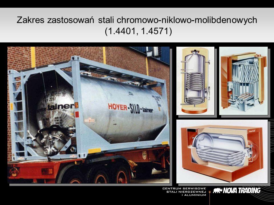Zakres zastosowań stali chromowo-niklowo-molibdenowych (1. 4401, 1