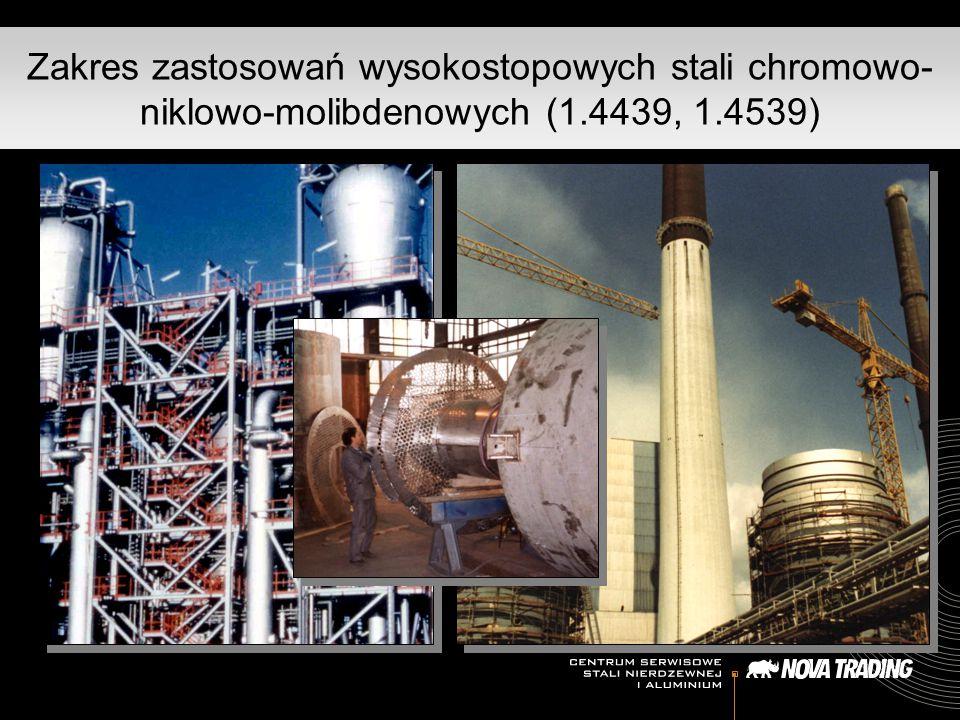 Zakres zastosowań wysokostopowych stali chromowo-niklowo-molibdenowych (1.4439, 1.4539)