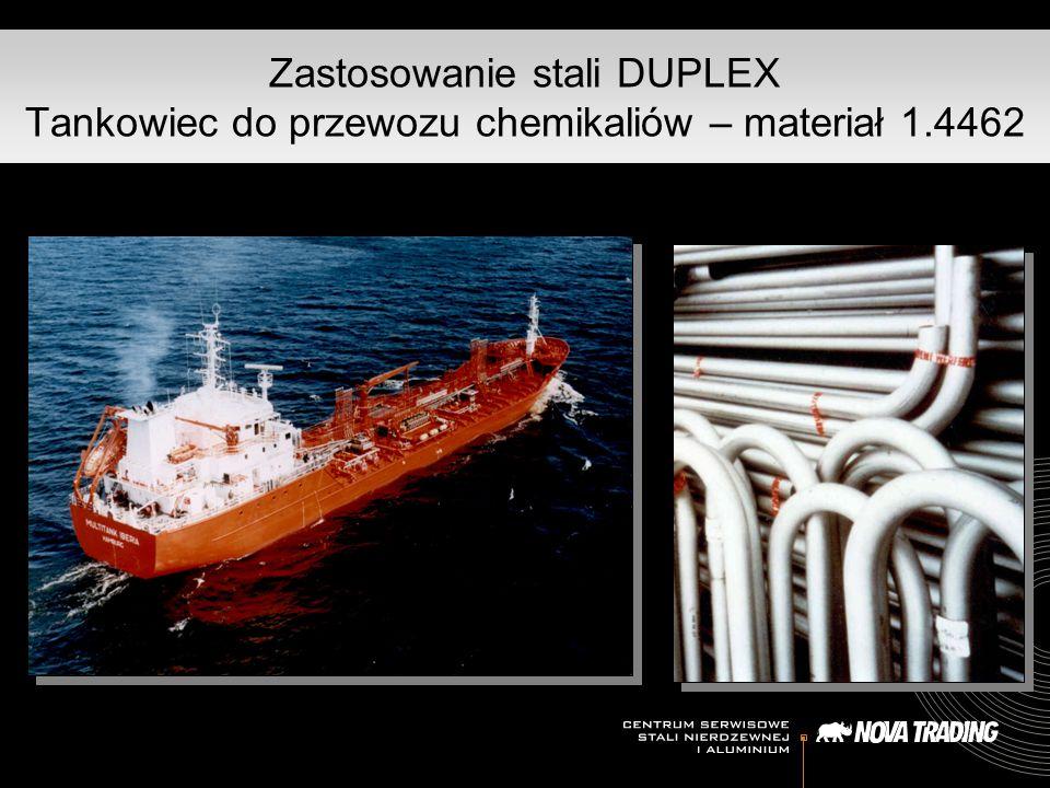 Zastosowanie stali DUPLEX Tankowiec do przewozu chemikaliów – materiał 1.4462