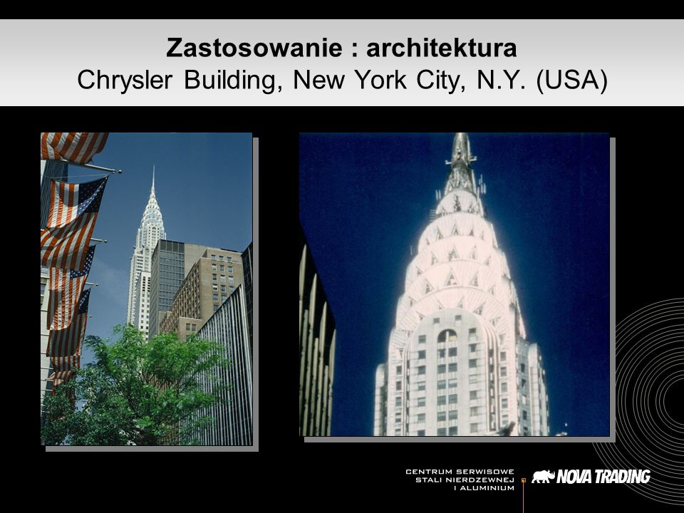 Zastosowanie : architektura Chrysler Building, New York City, N. Y
