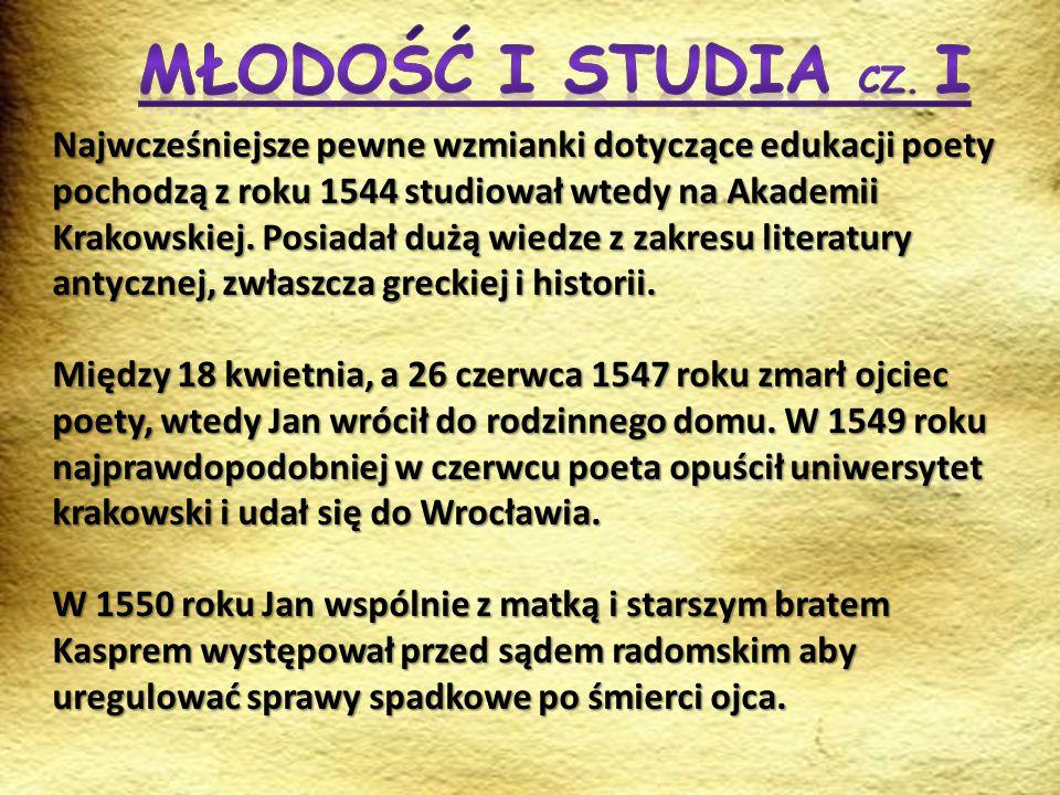Młodość i Studia cz. I