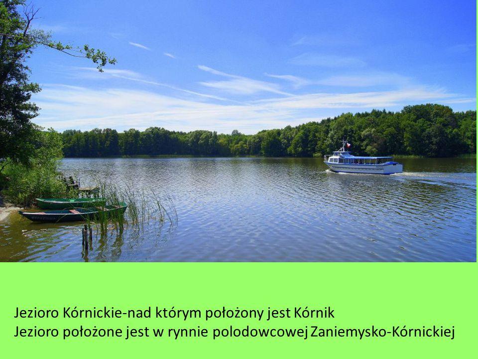 Jezioro Kórnickie-nad którym położony jest Kórnik