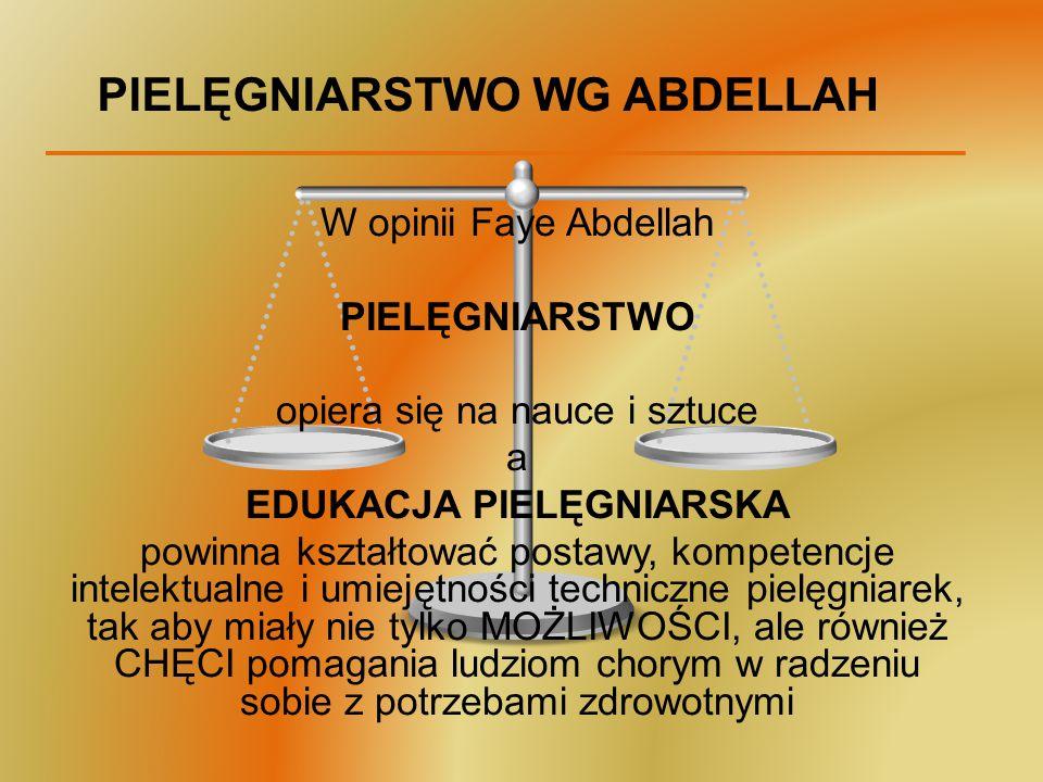 PIELĘGNIARSTWO WG ABDELLAH