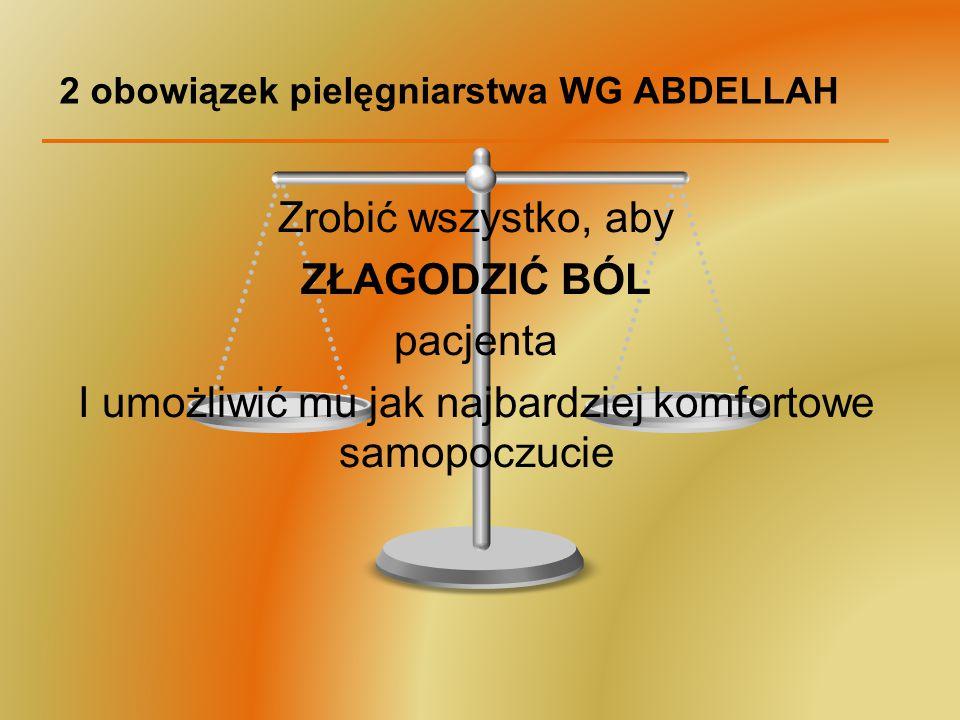 2 obowiązek pielęgniarstwa WG ABDELLAH