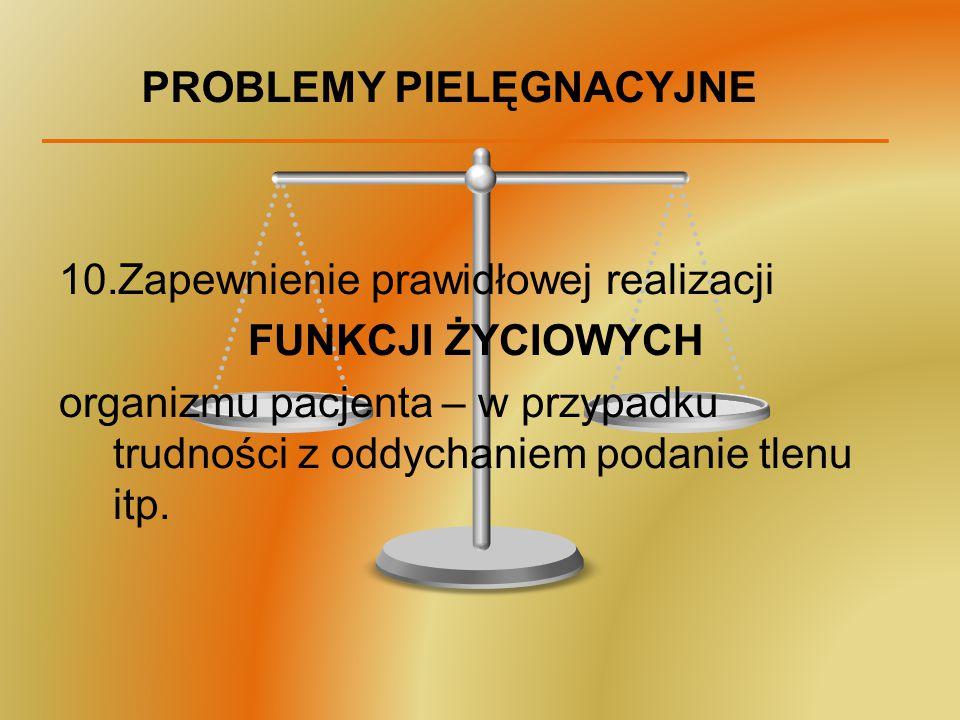 PROBLEMY PIELĘGNACYJNE