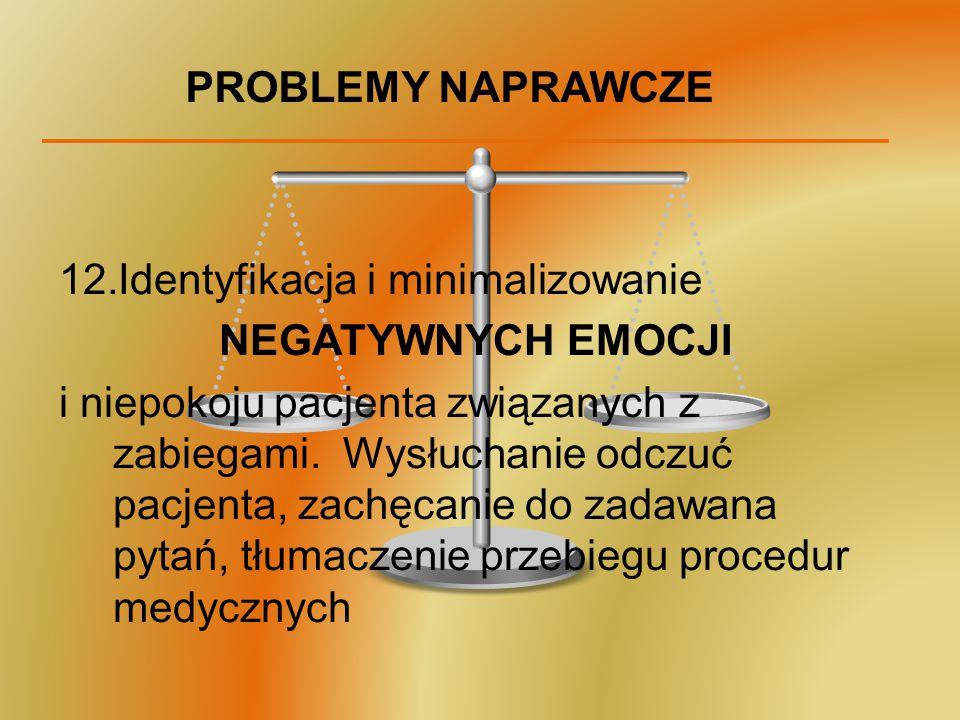 PROBLEMY NAPRAWCZE Identyfikacja i minimalizowanie. NEGATYWNYCH EMOCJI.