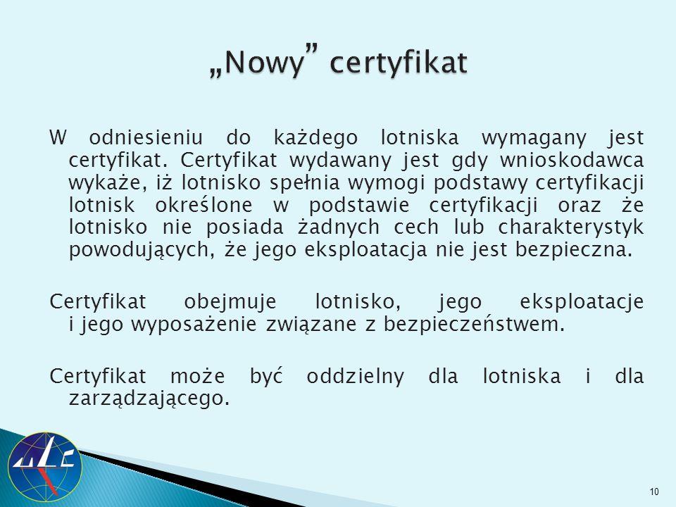 """""""Nowy certyfikat"""