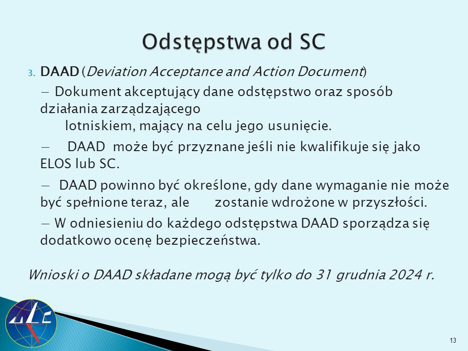 Odstępstwa od SC DAAD (Deviation Acceptance and Action Document)