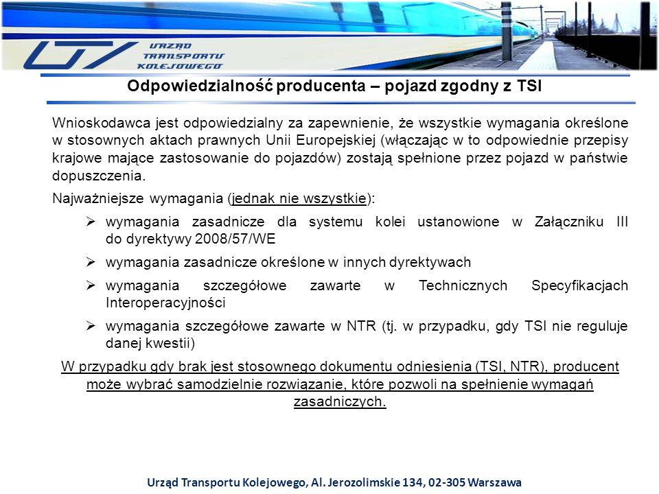 Odpowiedzialność producenta – pojazd zgodny z TSI