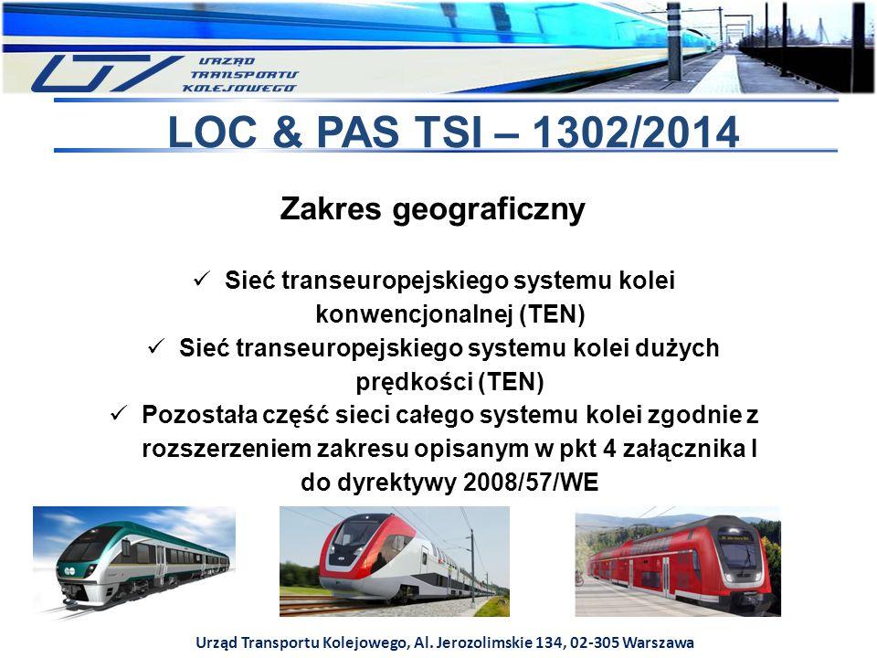 LOC & PAS TSI – 1302/2014 Zakres geograficzny