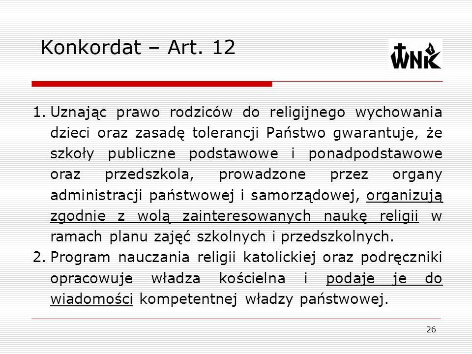 Konkordat – Art. 12