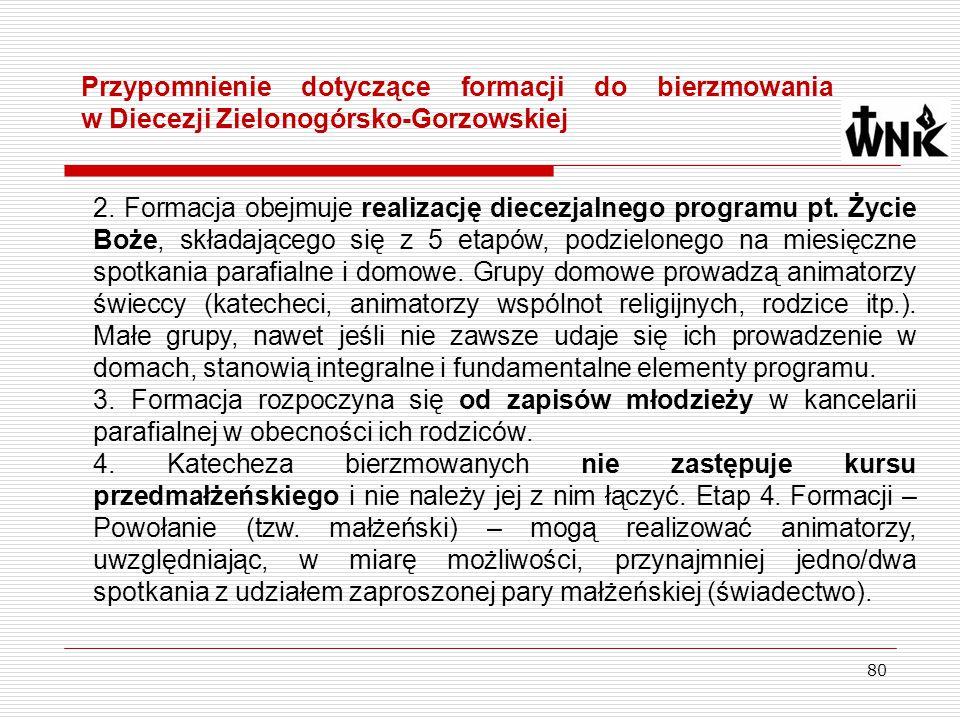 Przypomnienie dotyczące formacji do bierzmowania w Diecezji Zielonogórsko-Gorzowskiej