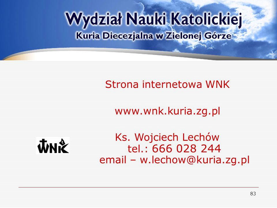 Strona internetowa WNK www.wnk.kuria.zg.pl