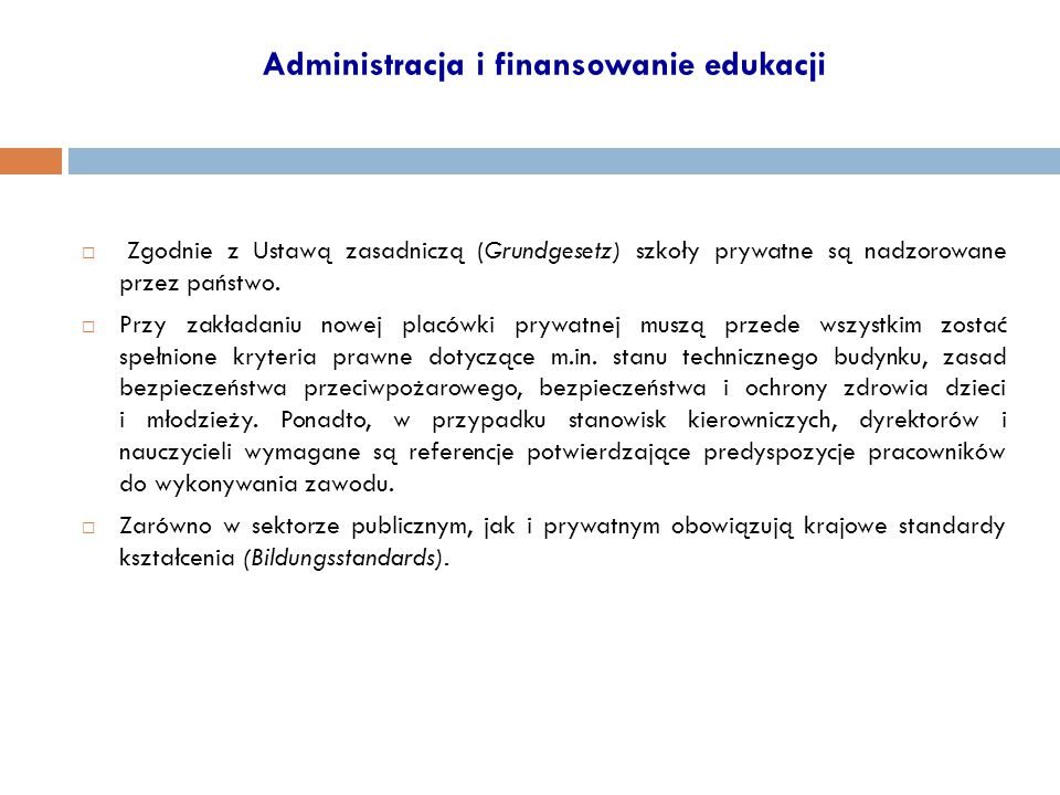 Administracja i finansowanie edukacji