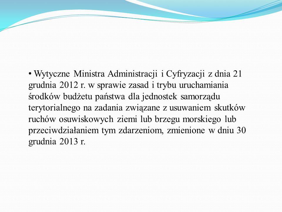 Wytyczne Ministra Administracji i Cyfryzacji z dnia 21 grudnia 2012 r