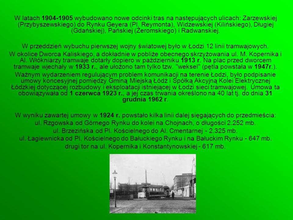 ul. Brzezińska od Pl. Kościelnego do Al. Cmentarnej - 2.325 mb.