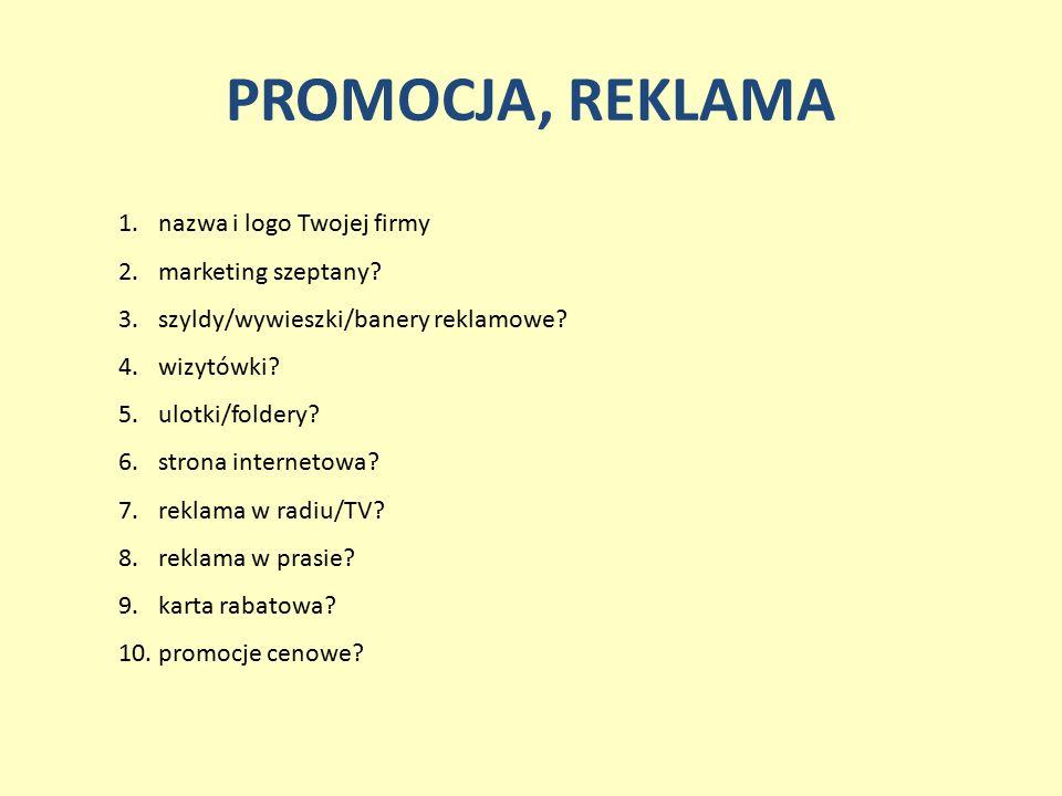 PROMOCJA, REKLAMA nazwa i logo Twojej firmy marketing szeptany