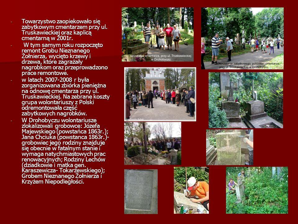 Towarzystwo zaopiekowało się zabytkowym cmentarzem przy ul