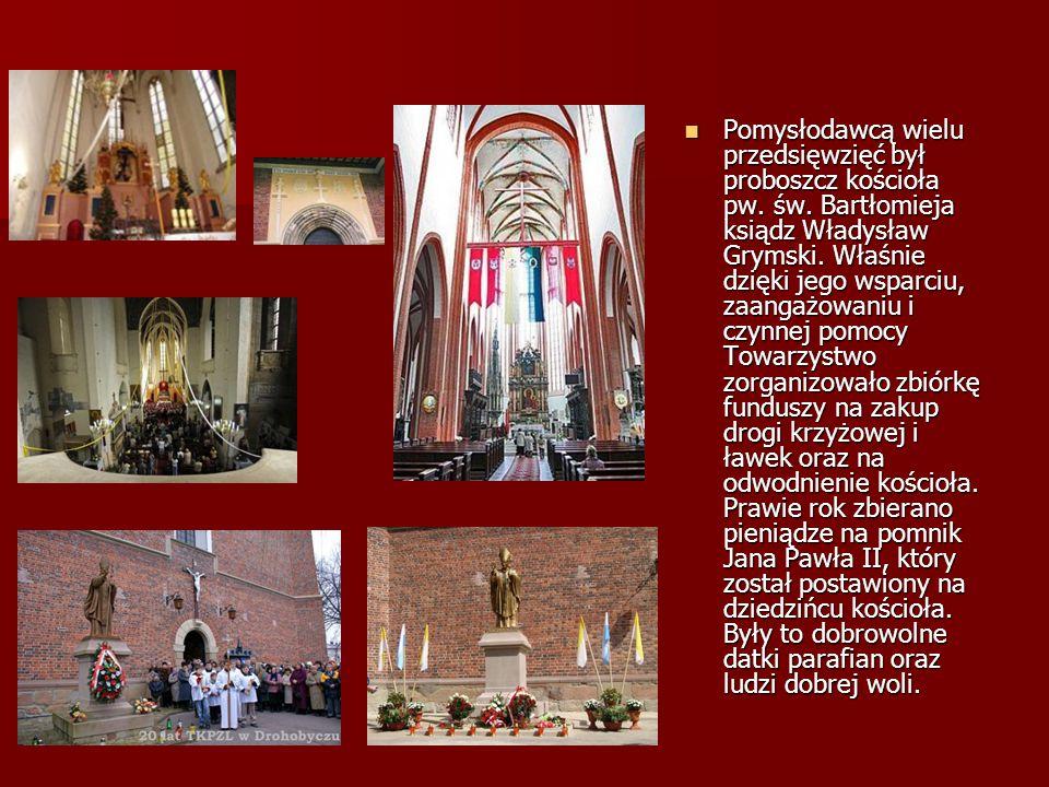 Pomysłodawcą wielu przedsięwzięć był proboszcz kościoła pw. św