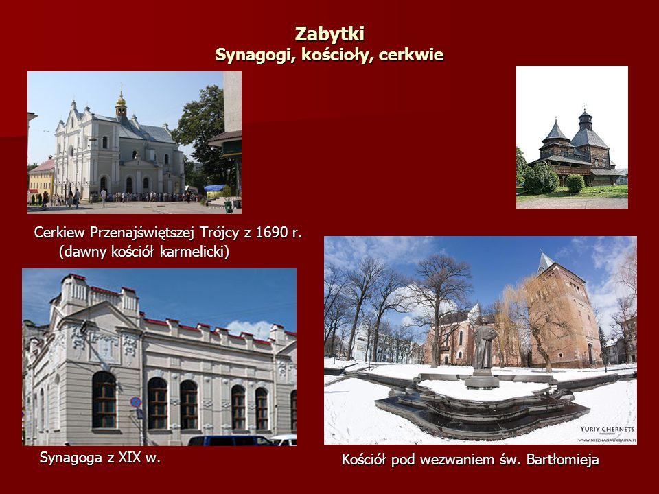 Zabytki Synagogi, kościoły, cerkwie