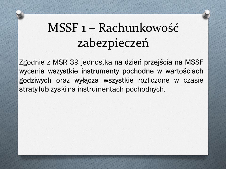 MSSF 1 – Rachunkowość zabezpieczeń