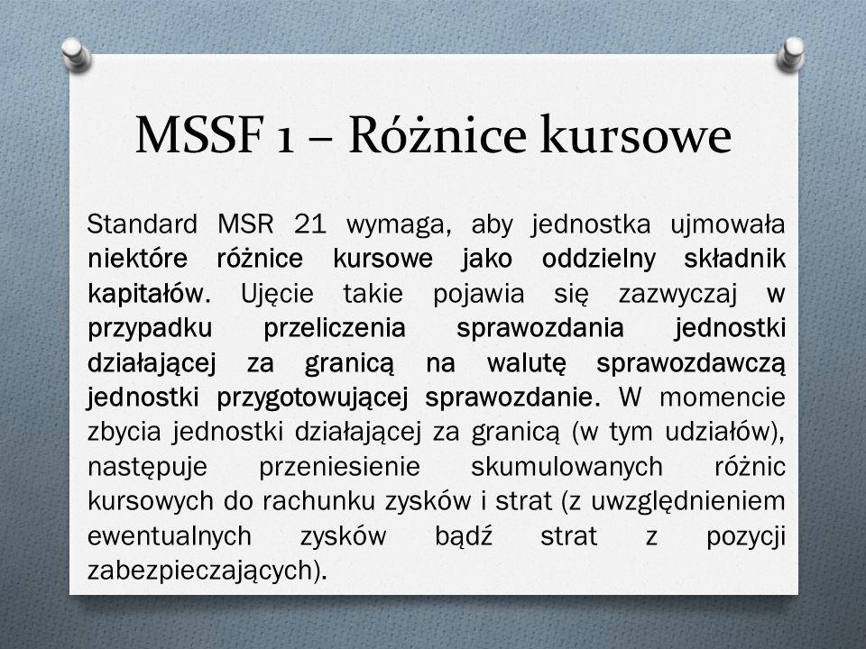 MSSF 1 – Różnice kursowe