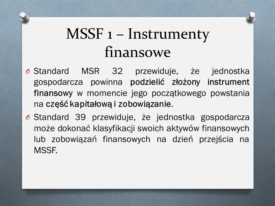 MSSF 1 – Instrumenty finansowe