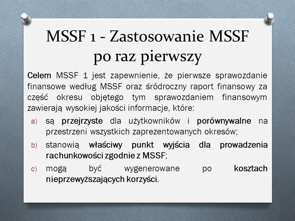 MSSF 1 - Zastosowanie MSSF po raz pierwszy