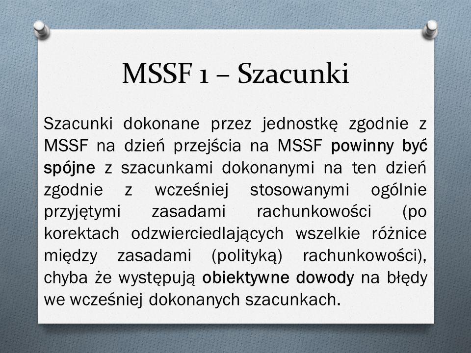MSSF 1 – Szacunki