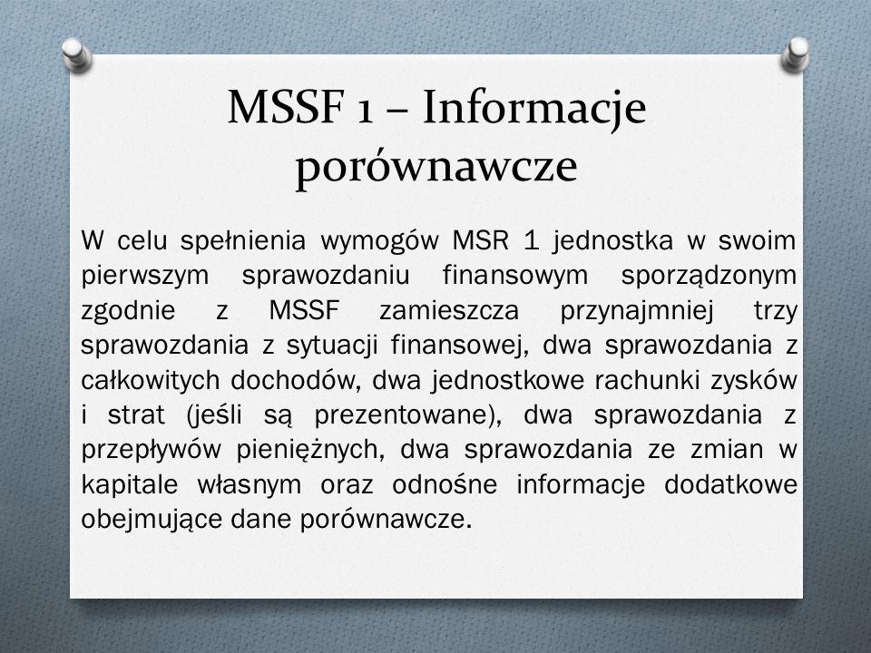 MSSF 1 – Informacje porównawcze