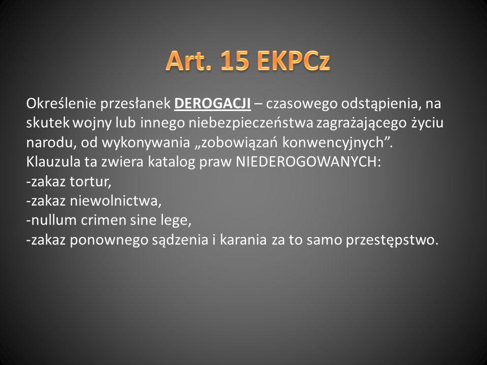 Art. 15 EKPCz